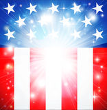 American flag patriotic background. With stars and stripes and space for text in the center Stock Images