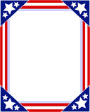 American flag Patriotic picture frame royalty free stock image