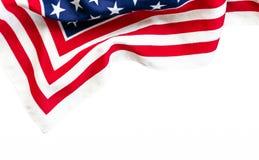 USA flag textile on white background. stock image