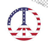 American Flag Peace Sign Royalty Free Stock Images