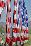 American Flag Pennant. Salem, Virginia, USA – April 15th: An American Flag pennant at the 19th Annual Blue Ridge Kite Festival at Green Hill Park located in Stock Photography