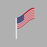 American flag is a perspective view Royalty Free Stock Photos