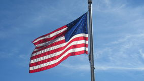 American Flag. This is a picture of an American Flag taken by the national monument stock photo