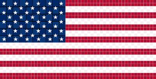 American flag pixel stock illustration