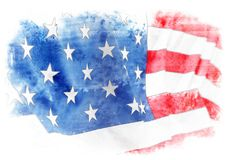 USA. American flag on plain background Stock Images
