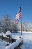 American flag on pole Royalty Free Stock Image