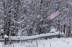 American flag on pole Stock Image