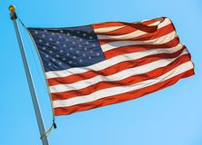 American Flag on a Pole Stock Photos