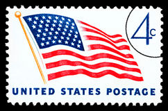 American Flag Postage Stamp Stock Photography