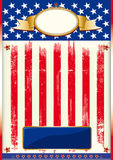 American flag poster Stock Images