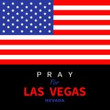 American flag. Pray for Las Vegas Nevada.  Stock Photography