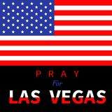 American flag. Pray for Las Vegas Nevada text Stock Photos