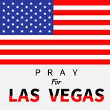 American flag. Pray for Las Vegas Nevada text. Stock Images