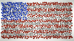 American flag of precious stones Royalty Free Stock Image