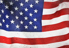 American flag with raindrops Royalty Free Stock Photography