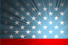American flag with the rays Stock Image