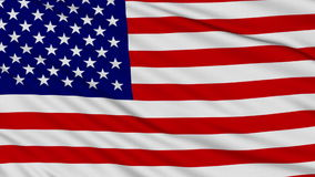 American Flag. American Flag with real structure of a fabric stock video