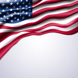 American flag realistic  Royalty Free Stock Image