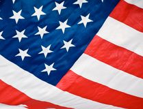 American flag red white blue Royalty Free Stock Photography