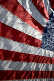 American Flag - Red, White and Blue. American Flag billowing out during a wind gust Royalty Free Stock Photography