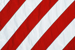 American Flag Red and White Stripes Closeup stock photography
