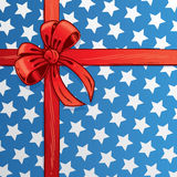 American flag ribbon and bow vector illustration Royalty Free Stock Photo