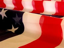 American Flag Ripples Royalty Free Stock Photography