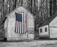 American flag and rural America Royalty Free Stock Images