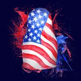 American Flag in Russian Doll Shape Royalty Free Stock Image