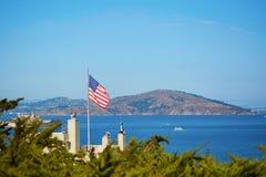 American flag in San Francisco, USA Stock Image