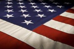 American Flag Series One. Shot across an American Flag Stock Photos