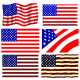 American Flag Set Royalty Free Stock Photos