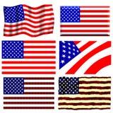 American Flag Set Royalty Free Stock Photos