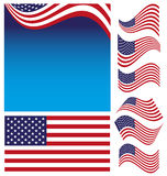 American Flag Set Royalty Free Stock Photo