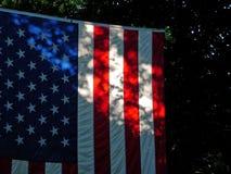 American flag in shadows