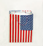 American Flag shopping Bag. Stock Photo