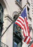 American flag on the side of a building Stock Image