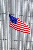 American Flag on Silver Wall Stock Photography