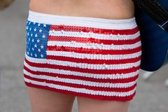 American Flag Skirt Stock Photo