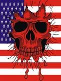 American flag skull. Grunge emblem American flag skull Stock Photography