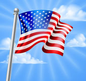 American Flag With Sky Royalty Free Stock Images