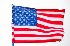 American flag on the sky Stock Image