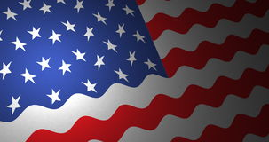 American flag with small ripples stock video footage