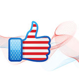 American flag social media Royalty Free Stock Photography