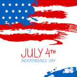 American flag splash background Stock Image