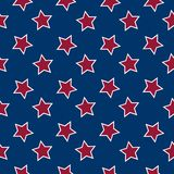 American flag stars background. Abstract seamless pattern; vector art illustration Royalty Free Illustration