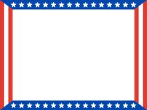 American flag stars Patriotic frame. royalty free stock image