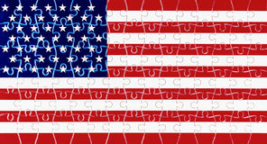 American flag with 49 stars. Puzzle with American flag with 49 stars Royalty Free Stock Photo