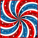 American flag stars and swirly stripes Royalty Free Stock Photo