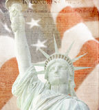 American Flag,statue of liberty, Constitution Stock Photos